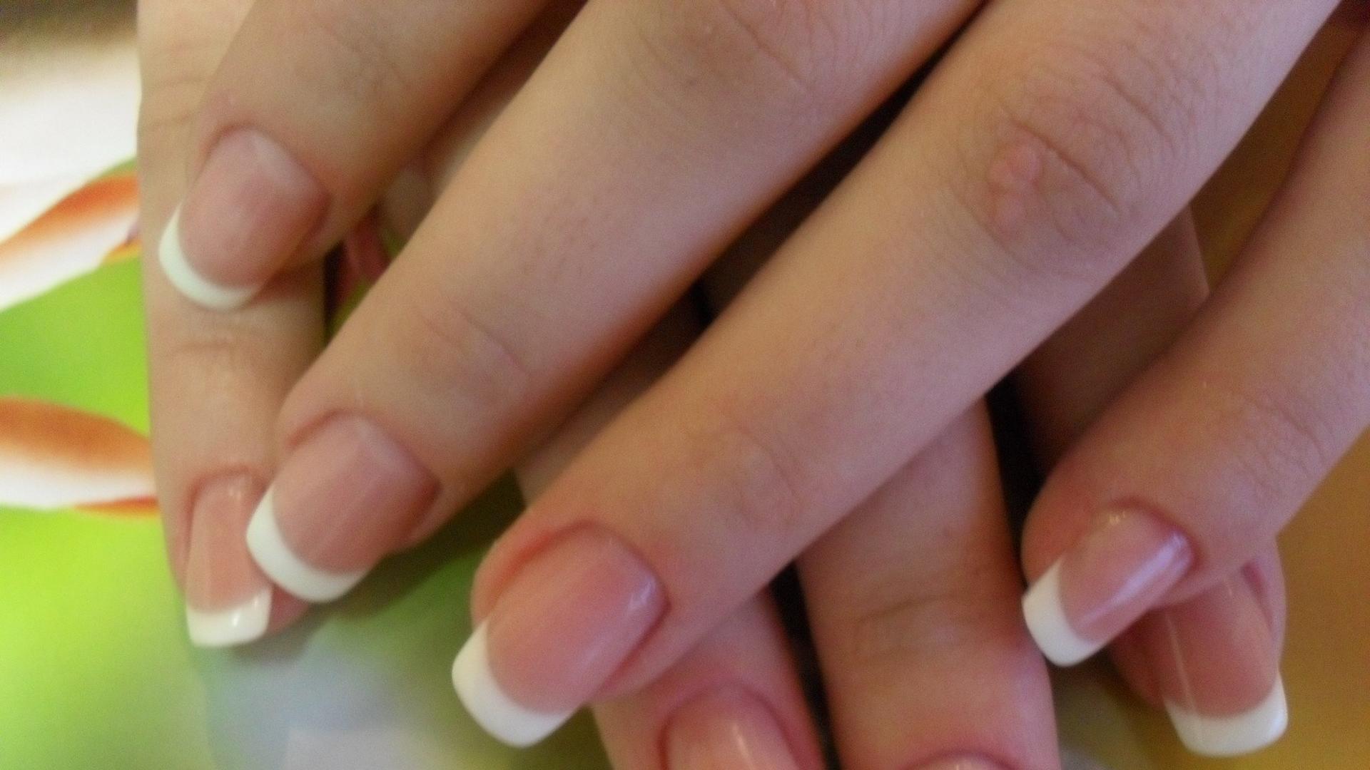 Наращивание ногте френч