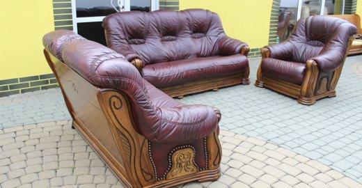 Кожаная мягкая мебель б у