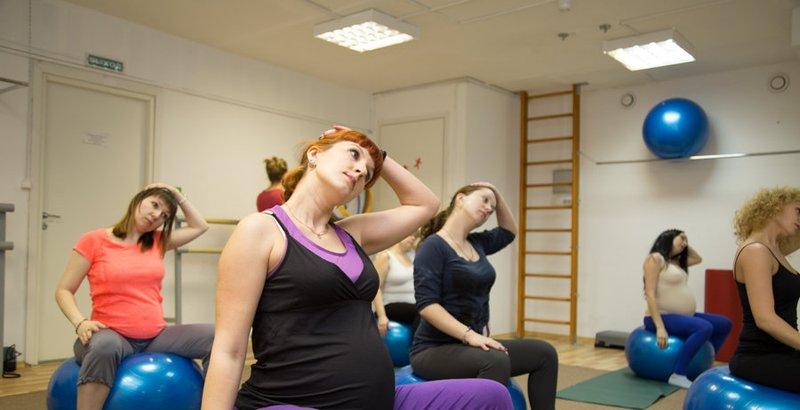 Занятия для беременных в фитнес хаусе
